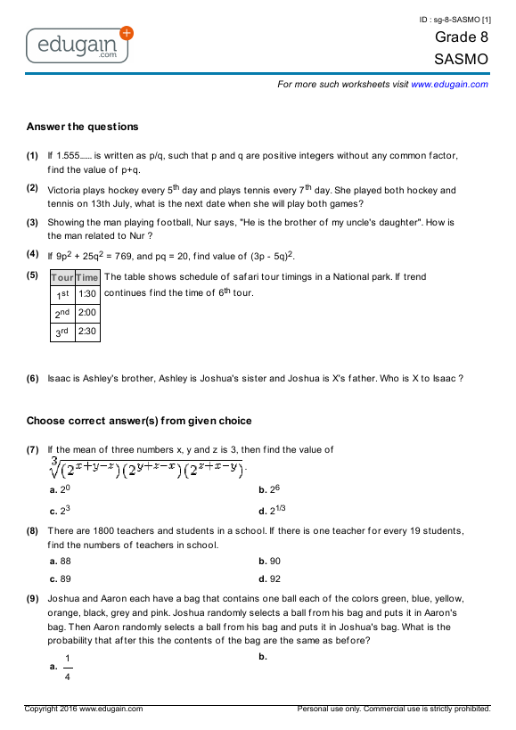 Integers Grade 6 Managingthemanor – Math Integers Worksheets Grade 7